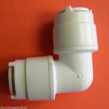 5 x Polyfit 10mm elbows / bends. Polypipe pushfit elbow